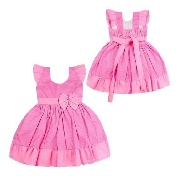 Kit 5 Vestidos Bebê Menina Roupas Atacado