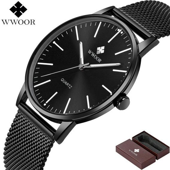 Relógio Masculino De Pulso Wwoor 8832 Clássico De Luxo