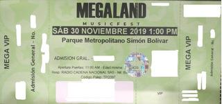 Boletas Megaland Sector Vip Con Mercado Pago Sold Out!!!