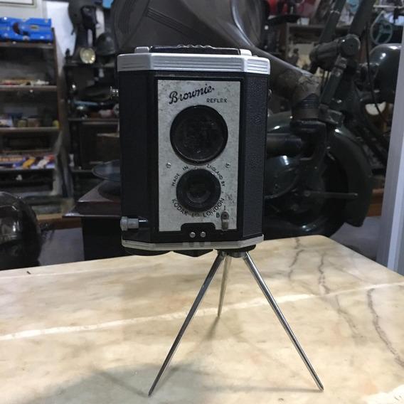 Camera Antiga Brownie Com Tripé Reflex Ñ Canon Nikon 215