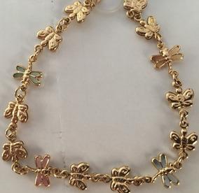 Pulseira Gold Butterfly Banhada A Ouro