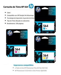 Cartuchos Colores Hp Original 564 X 3