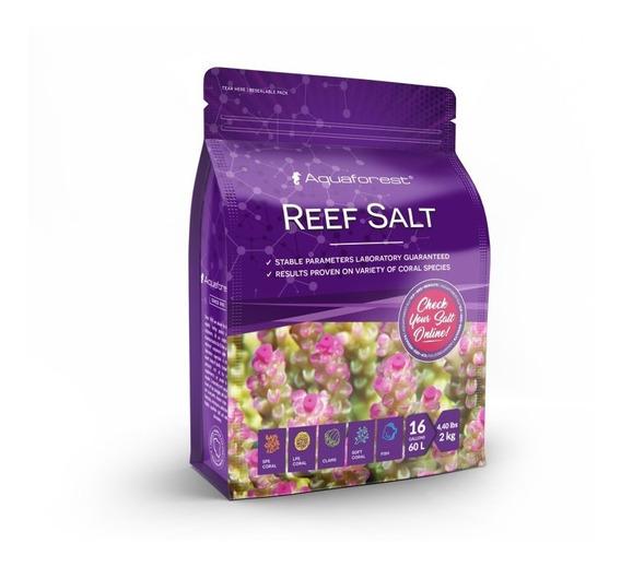 Sal Aquaforest Reef Salt 2kg Faz 60l Bom Para Coral E Peixes