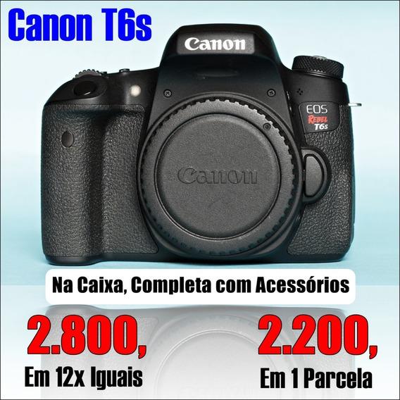 Canon Eos T6s Nova - Corpo, Na Caixa - Não É T5i, Nem T6i