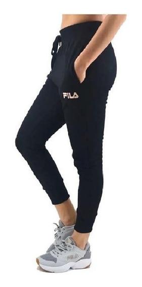 Fila Pantalón Lifestyle Mujer Thelma Negro - Rosa