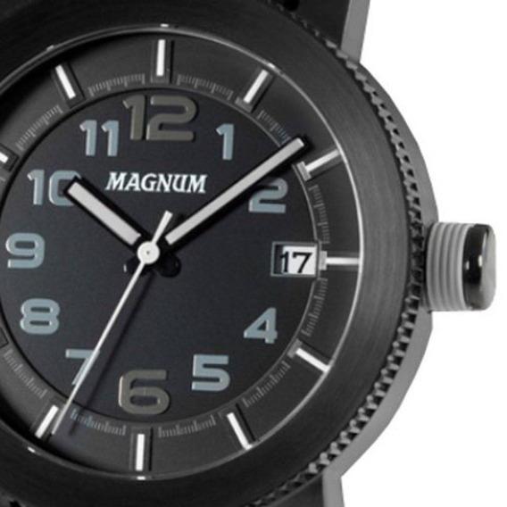 Relógio Magnum Kit Masculino Pulseira Couro Ma34094c