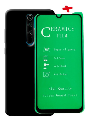 Estuche + Vidrio Templado 5d Xiaomi Redmi Note 8 / 8 Pro