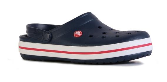 Sandalias Crocs Crocband Hombre Originales Azul Verano