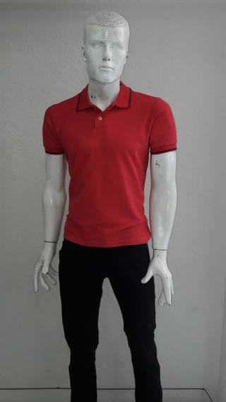 Playera Tipo Polo Color Rojo