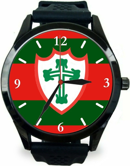 Relógio Pulso Esportivo Personalizado Torcedor Portuguesa Sp