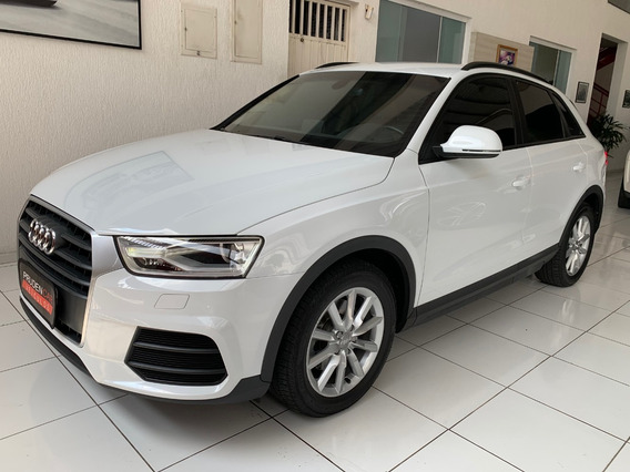 Audi Q3 1.4 Turbo Attraction Flex 2017 Branca Blindado