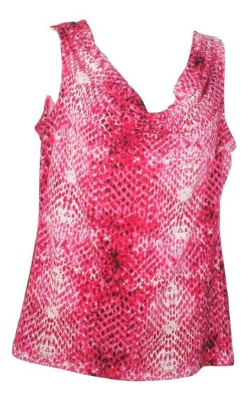 Blusa Calvin Klein Original Cuello Caido Animal Print Vibora Seminueva Ck Talla Xs Eu M Mexico Liquidacion $690a
