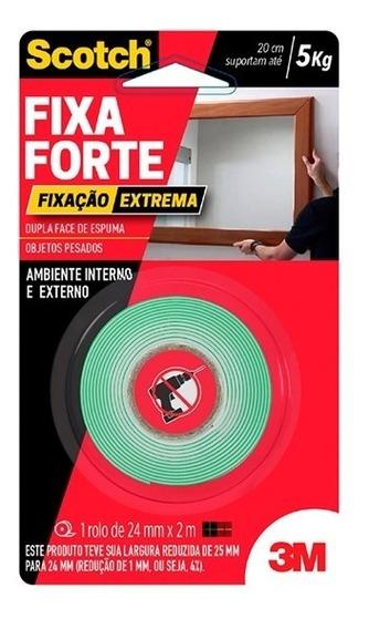 Fita Adesiva Vhb Dupla Face Fixa Forte Extreme 24mm X 2mt 3m