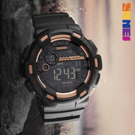 Relógio Masculino S - Shock Digital A Prova D Agua Dourado