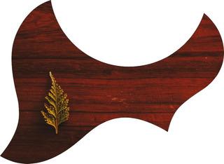 Escudo Palheteira Resinada Violão Aço Jumbo Sônica Wood 4