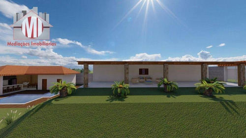 Imagem 1 de 30 de Linda Chácara Com 04 Dormitórios, Piscina, Salão De Jogos, Bem Localizada,  À Venda, 1000 M² Por R$ 450.000 - Zona Rural - Pinhalzinho/sp - Ch0982