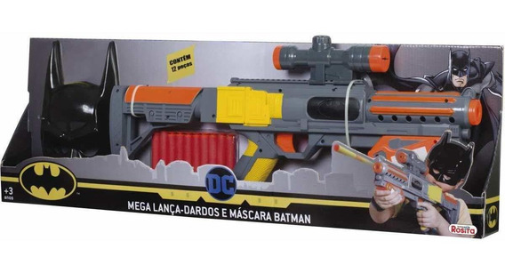 Mega Lança Dardos E Mascara Batman Rosita 9517