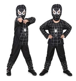 Disfraz Spiderman Hombre Araña Negro Talla 3 A 8 Envíogratis