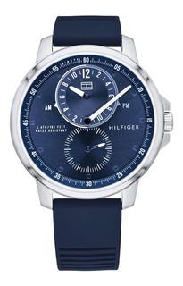 Reloj Tommy Hilfiger Hombre Logan Azul Caucho Sumergible