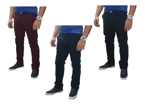 Kit 3 Calça Masculina Lycra Slim Jeans Preço De Fabrica