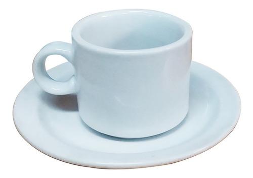 Imagen 1 de 4 de Taza De Café Y Plato De Porcelana Gastronomica Blancos