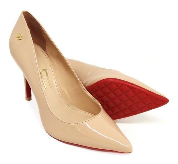 Sapatos Scarpin Salto Alto Bico Fino Verniz Em Promocao