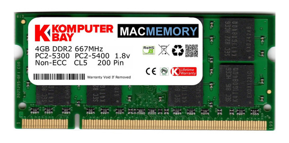 Memoria Ram 4gb Komputerbay Mac Apple (single 4gb Stick) Pc2-5300 667mhz Ddr2 Sodimm iMac And Macbook