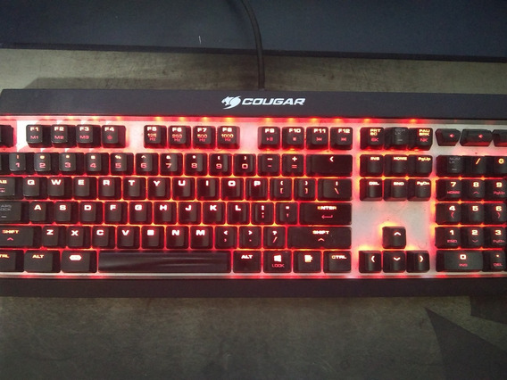 Teclado Gamer Cougar Attackx3 Cherry Mx Switch Red