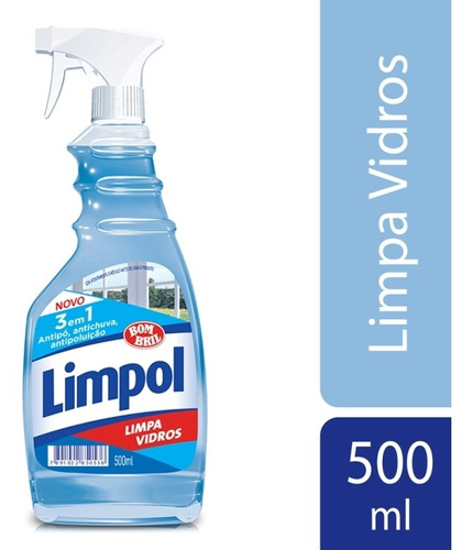 Limpa Vidros Limpol 3 Em 1 Gatilho 500ml