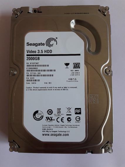 Hd Sataiii Hd 2 Teras Seagate P/seagate Pc Servidor Dvr