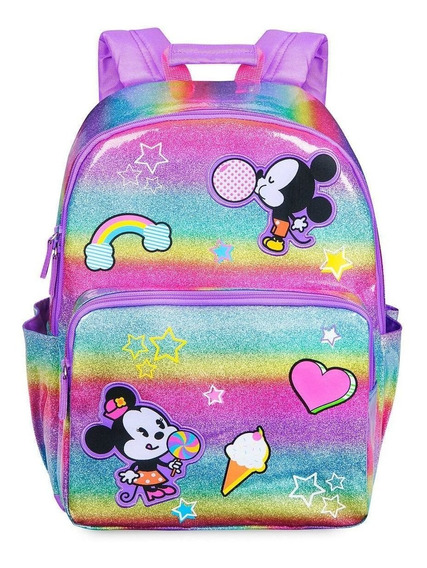 Disney Store Mochila Mickey And Minnie Mouse Nuevo!!