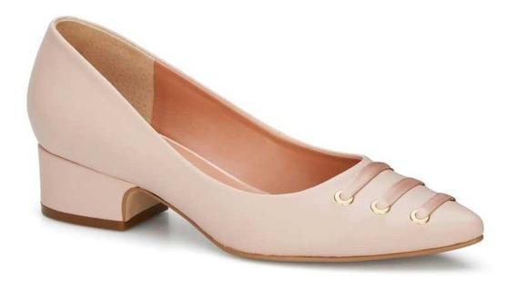 Zapatos Andrea Negros & Rosas Listones Tacón Midi Mod. 707