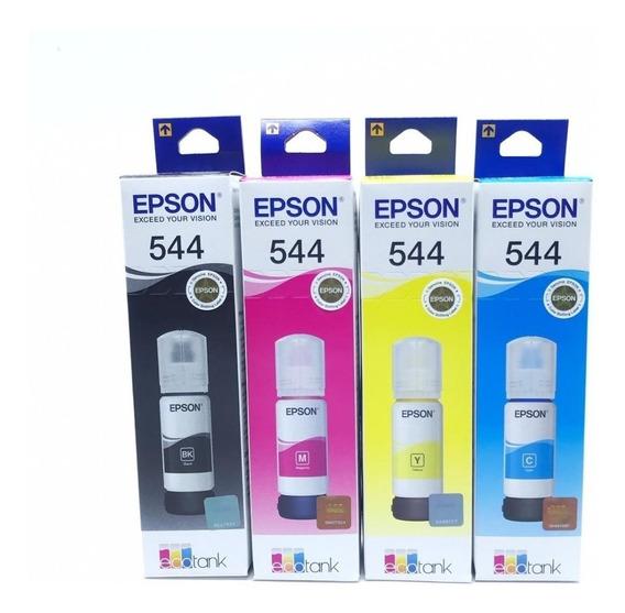 Kit Tinta Original Epson L3150 L3110 T544 3150 3110 B/c/y/m