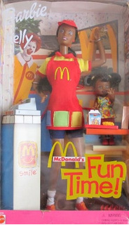 Barbie Y Kelly Mc Donalds ¡tiempo De Diversión! 2001