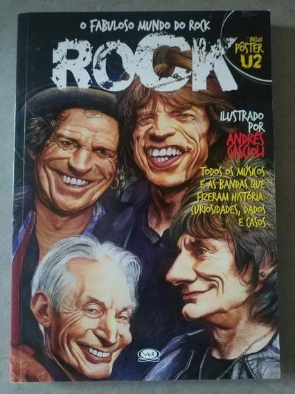 Livro O Fabuloso Mundo Do Rock Ilustrações Usado Frete R$15