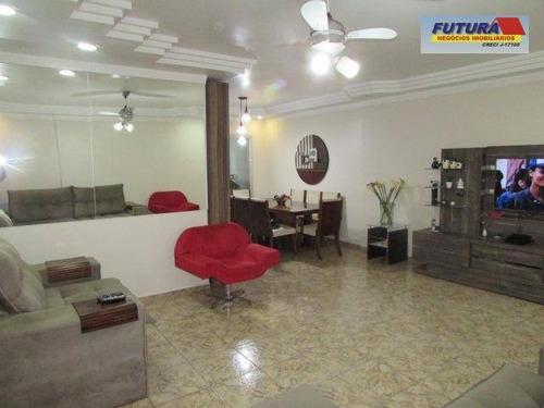 Apartamento Com 3 Dormitórios À Venda, 180 M² Por R$ 590.000,00 - Itararé - São Vicente/sp - Ap1701