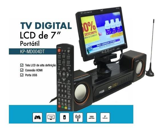 Tv Digital Led 7 Com Antena Controle Som 5w Função Rec