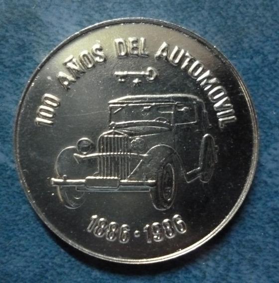 Cuba Moneda 1 Peso Unc 1986 - Centenario Del Automovil
