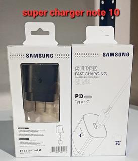 Cargador Samsung Original Super Fast Charger Note 10 A70 A80