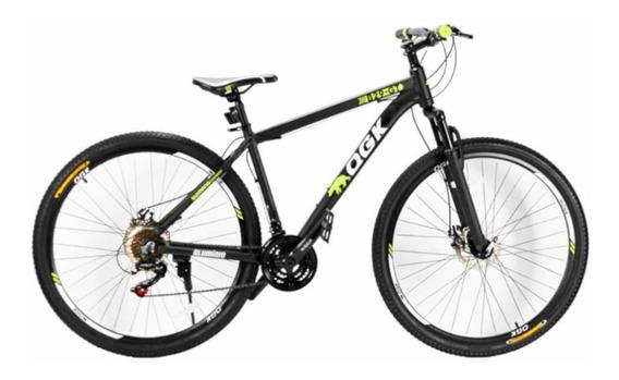 Bicicleta Aro 29 Freio A Disco 21 Vel Câmbio Shimano Preto/v