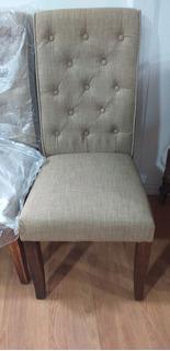 Sillas Modelo Upholster Lino Beige.