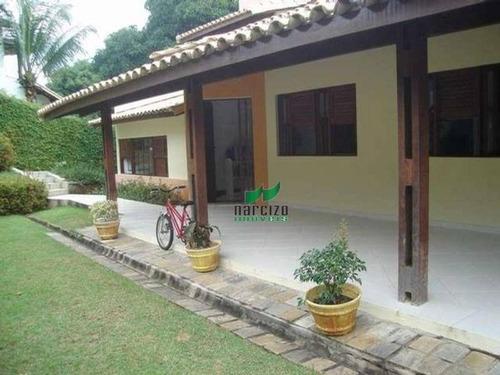 Casa Com 5 Dormitórios À Venda, 450 M² Por R$ 1.200.000,00 - Encontro Das Águas - Lauro De Freitas/ba - Ca0930