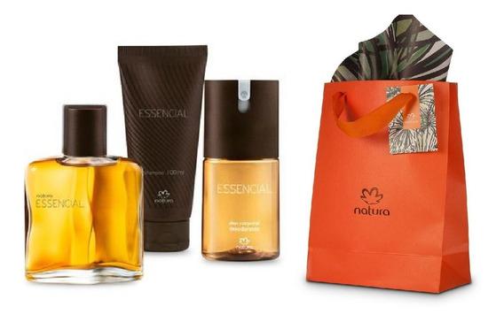 Kit Perfume Natura Essencial + Desodorante + Shampoo
