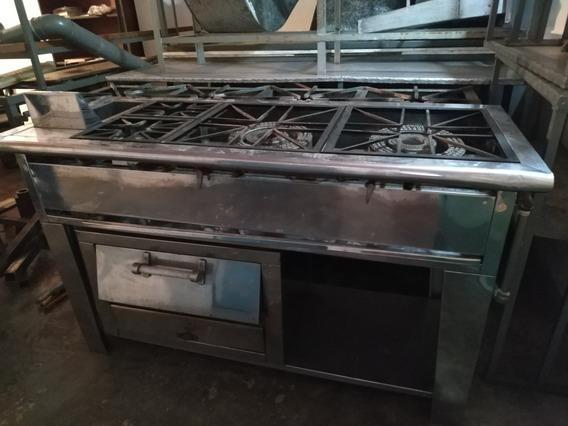 Cocina Industrial En Acero Con Horno