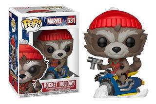 Funko Pop! 531 Rocket Holiday Marvel Original - Candos