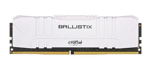 Imagem 1 de 1 de Memoria Ram 8gb Crucial Ballistix Ddr4 3000mhz Branco