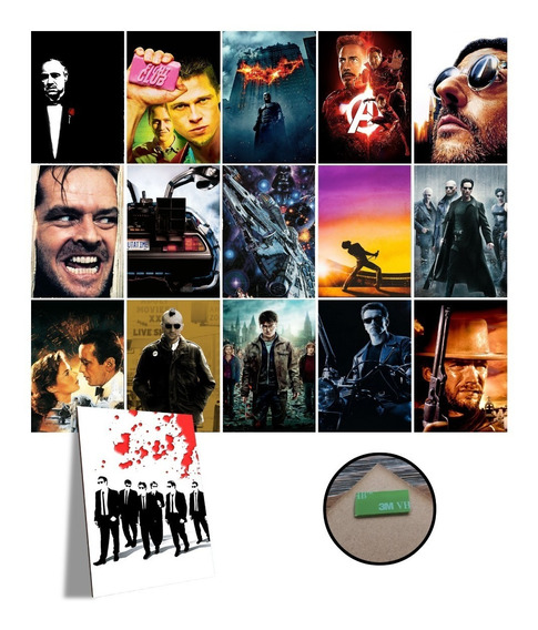 Kit Com 10 Placas Decorativas A4 Filme Cinema Vários Modelos