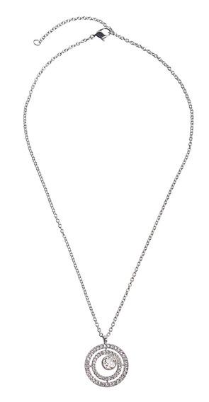 Colar Swarovski Pave Círculo - Cor Prata