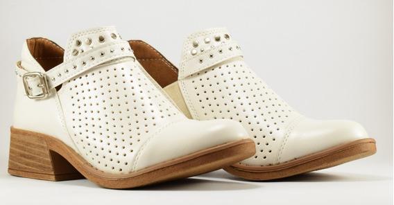 Zapatos Mujer Botas Botinetas Eco Cuero Picadas 36 Al 40