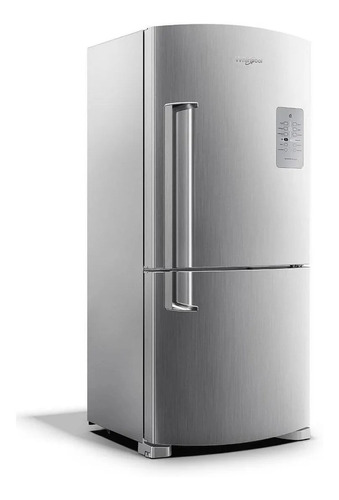 Imagen 1 de 5 de Heladera No Frost Whirlpool Wre80k2 Inox Con Freezer 573l